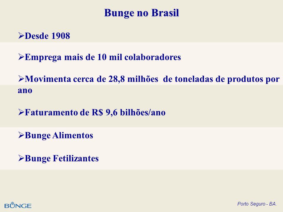 Bunge no Brasil Desde 1908 Emprega mais de 10 mil colaboradores