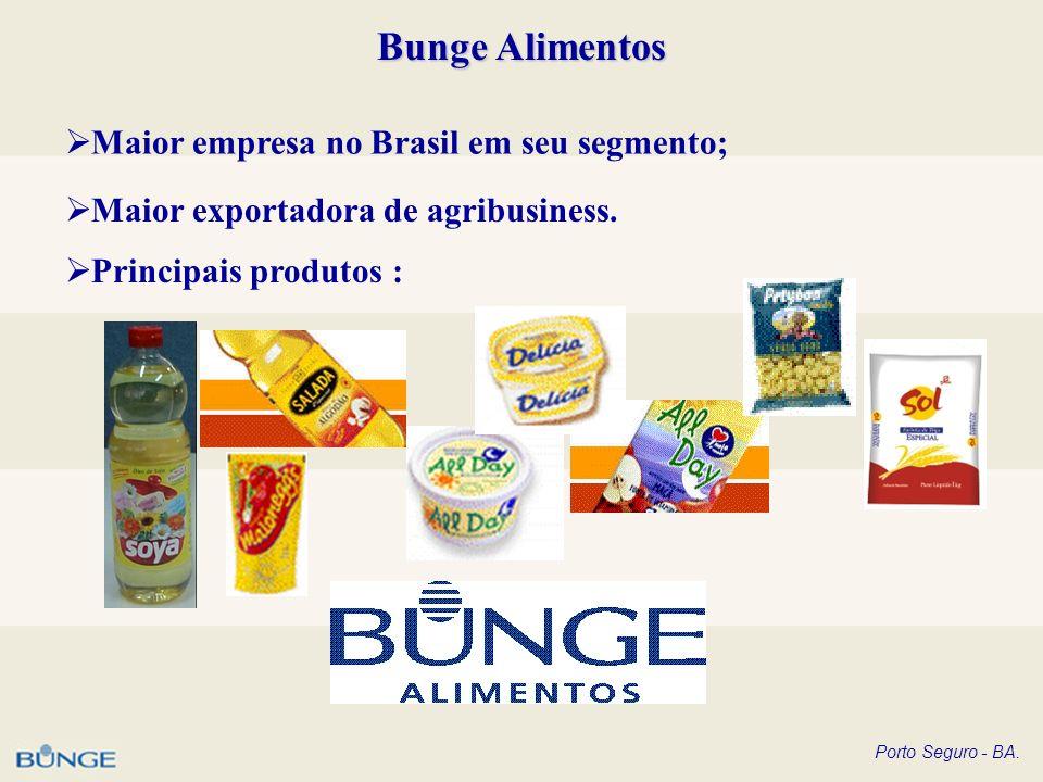 Bunge Alimentos Maior empresa no Brasil em seu segmento;