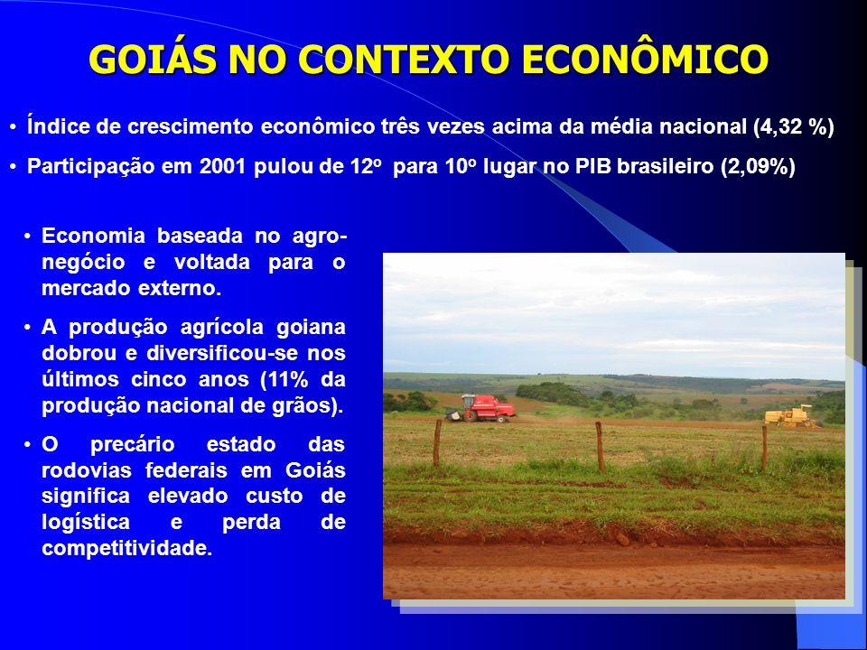 GOIÁS NO CONTEXTO ECONÔMICO