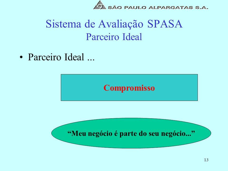 Sistema de Avaliação SPASA Parceiro Ideal