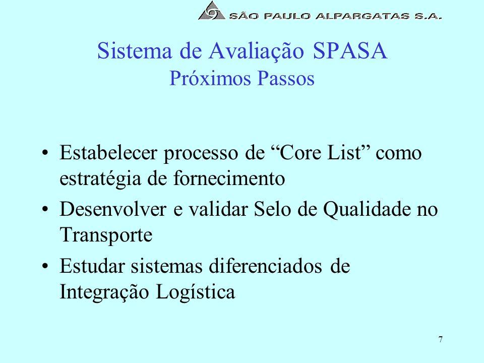 Sistema de Avaliação SPASA Próximos Passos