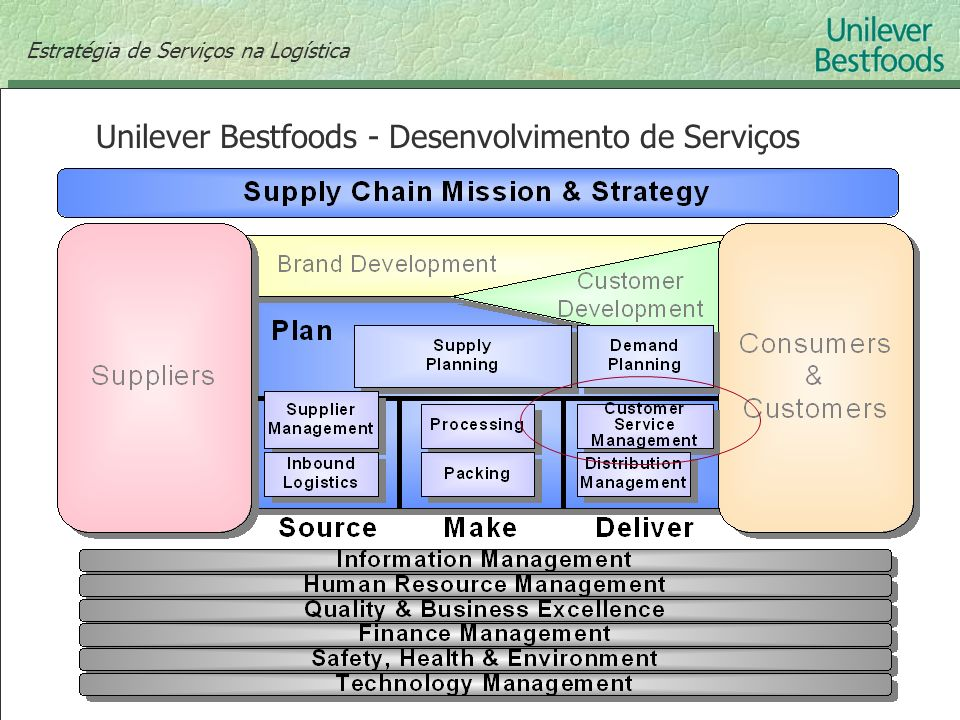 Unilever Bestfoods - Desenvolvimento de Serviços