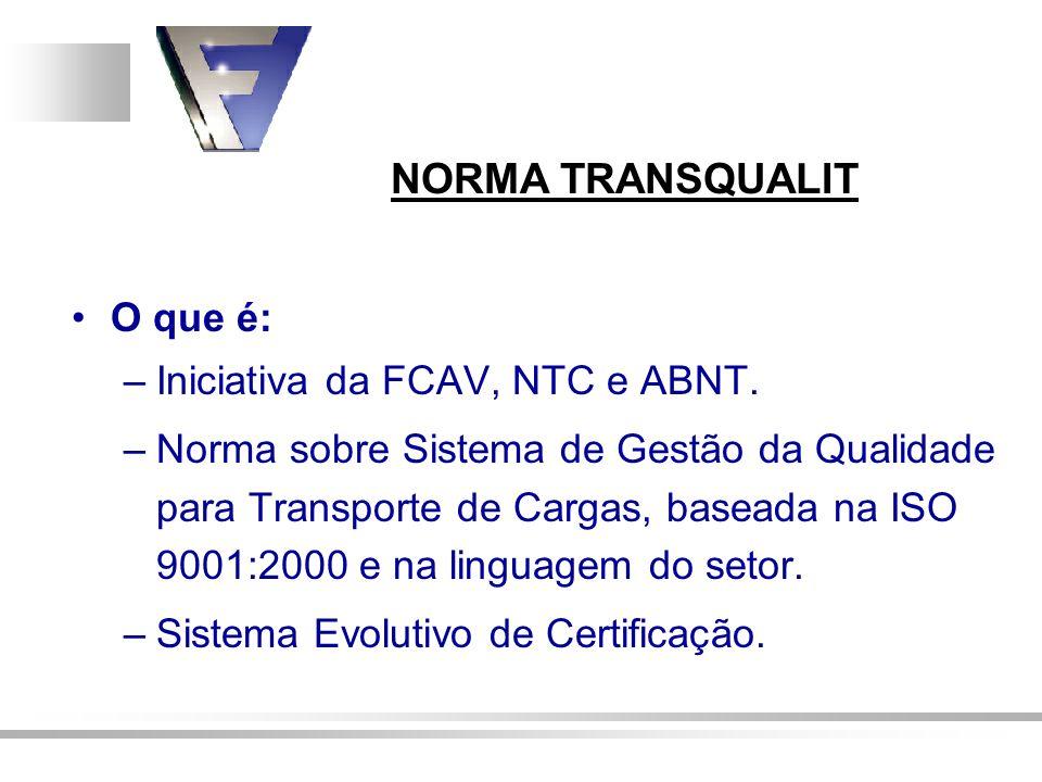 Iniciativa da FCAV, NTC e ABNT.