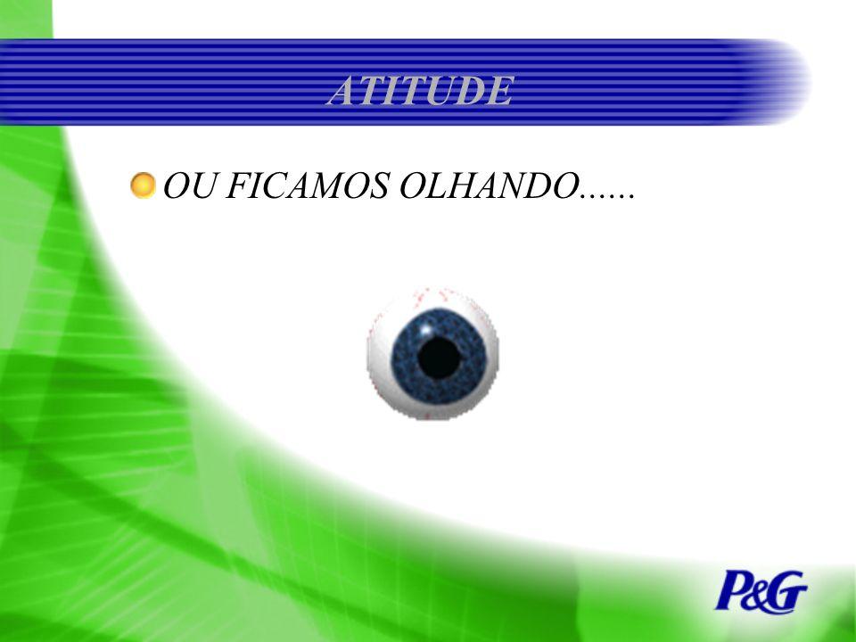 ATITUDE OU FICAMOS OLHANDO......
