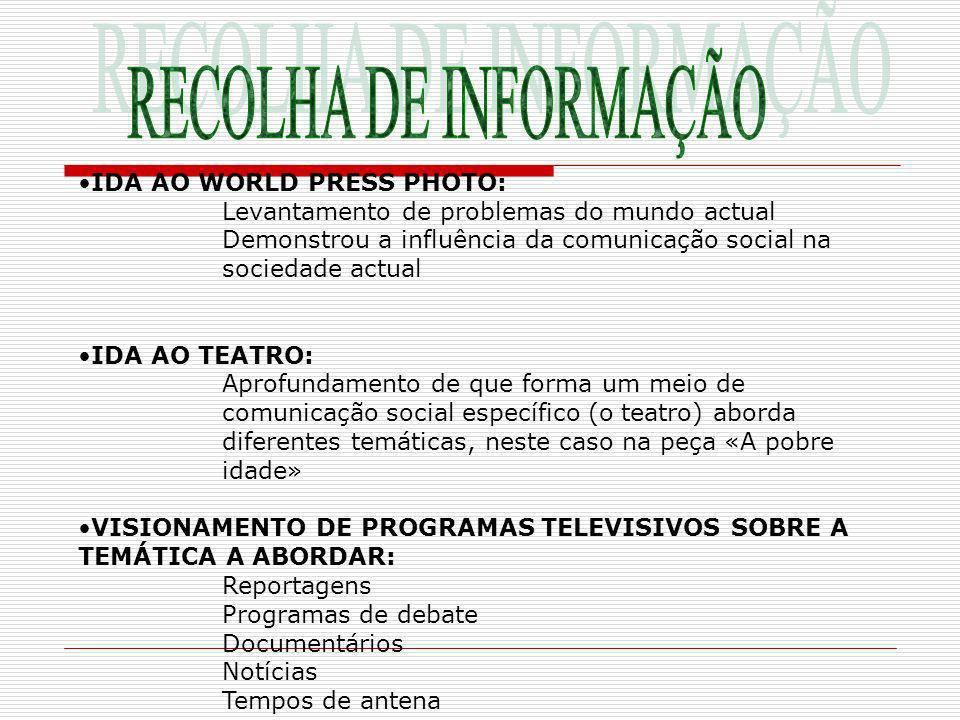 RECOLHA DE INFORMAÇÃO IDA AO WORLD PRESS PHOTO:
