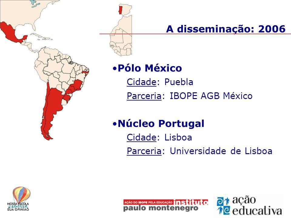 A disseminação: 2006 Pólo México Núcleo Portugal Cidade: Puebla
