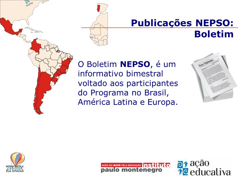 Publicações NEPSO: Boletim