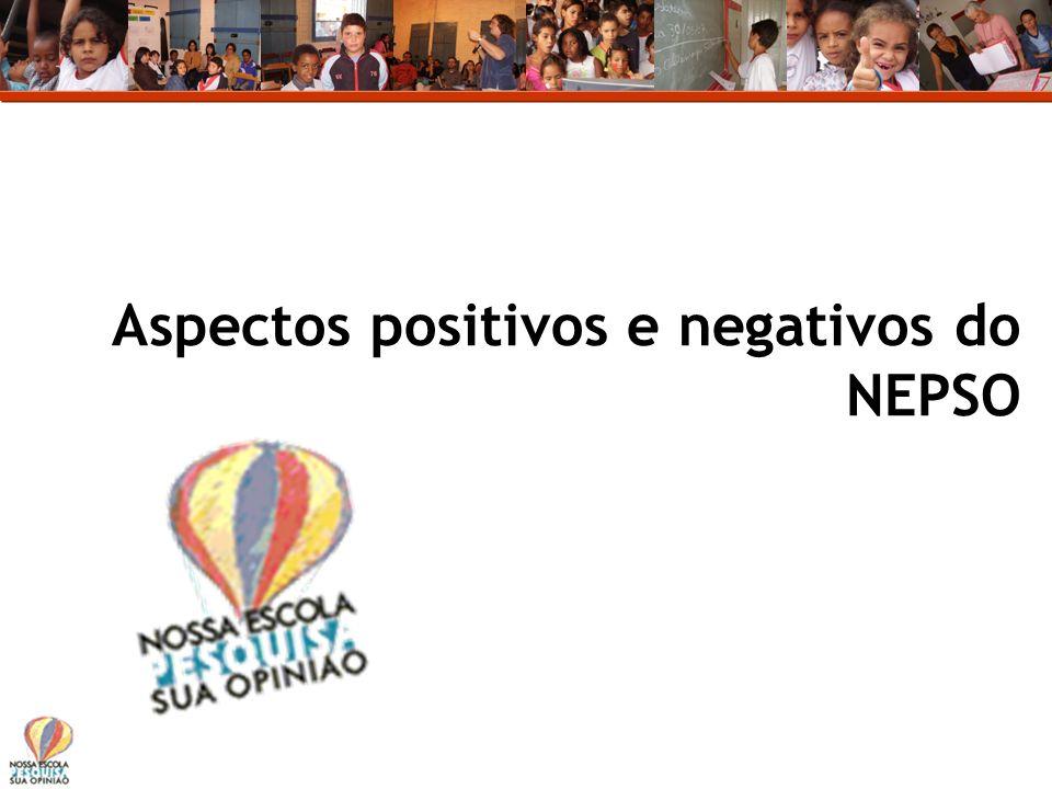 Aspectos positivos e negativos do NEPSO