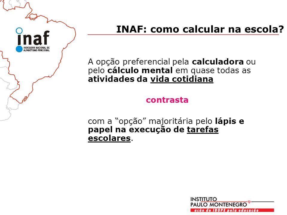 INAF: como calcular na escola