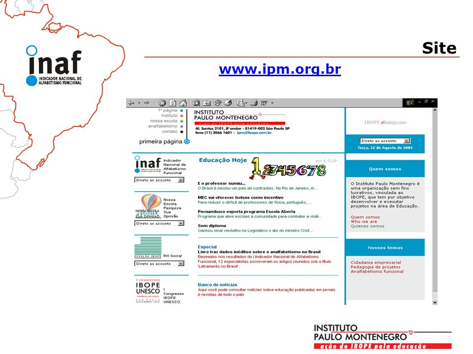 www.ipm.org.br Site