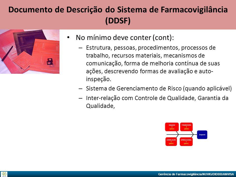 Documento de Descrição do Sistema de Farmacovigilância (DDSF)