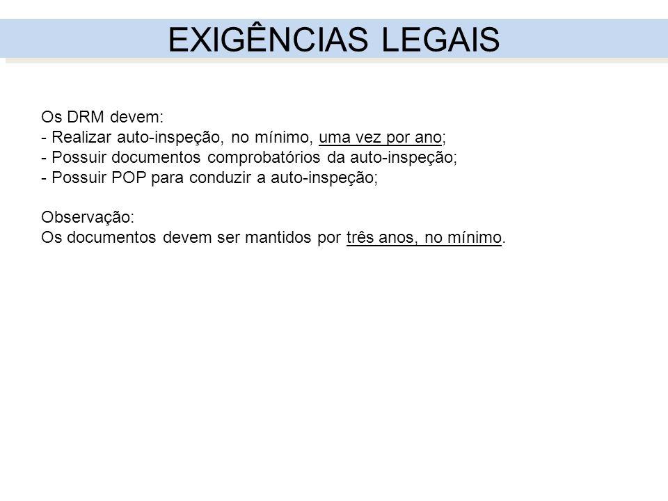 EXIGÊNCIAS LEGAIS Os DRM devem: