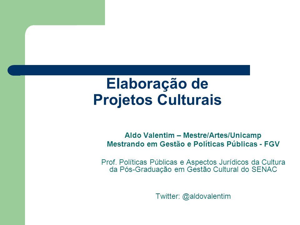 Elaboração de Projetos Culturais