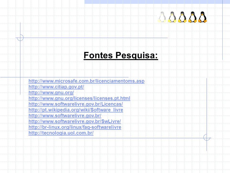Fontes Pesquisa: http://www.microsafe.com.br/licenciamentoms.asp
