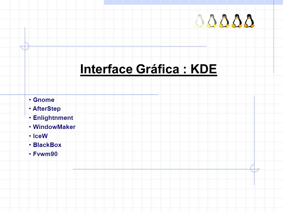 Interface Gráfica : KDE