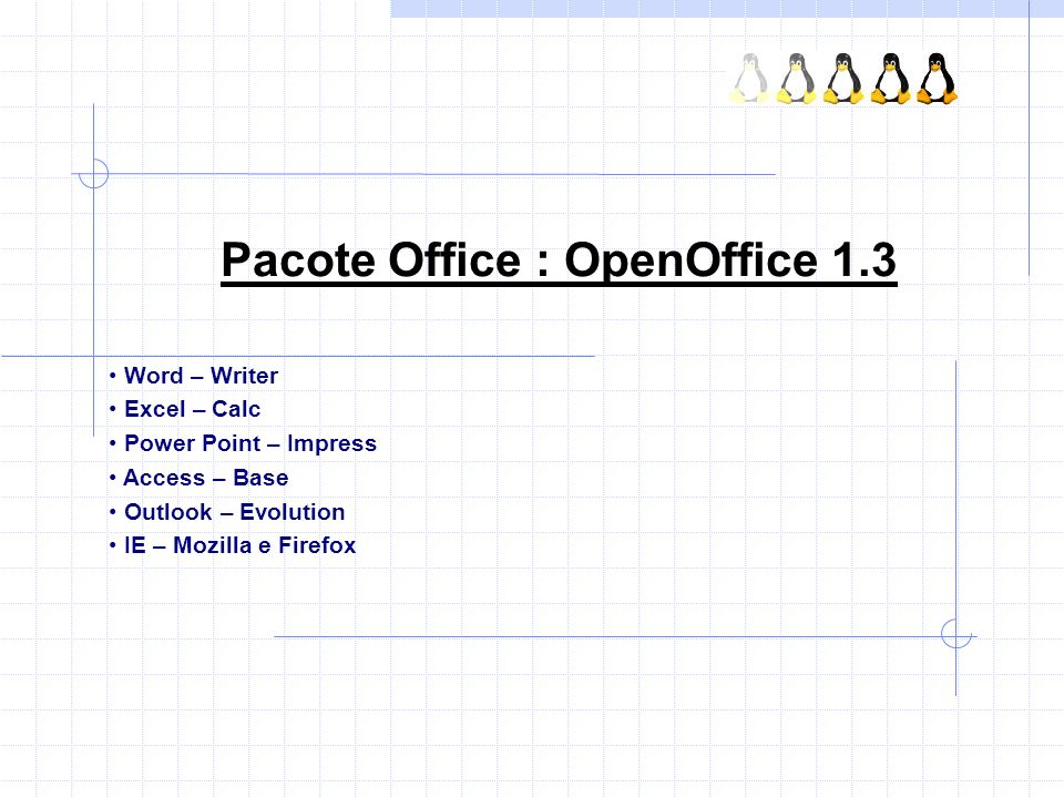 Pacote Office : OpenOffice 1.3