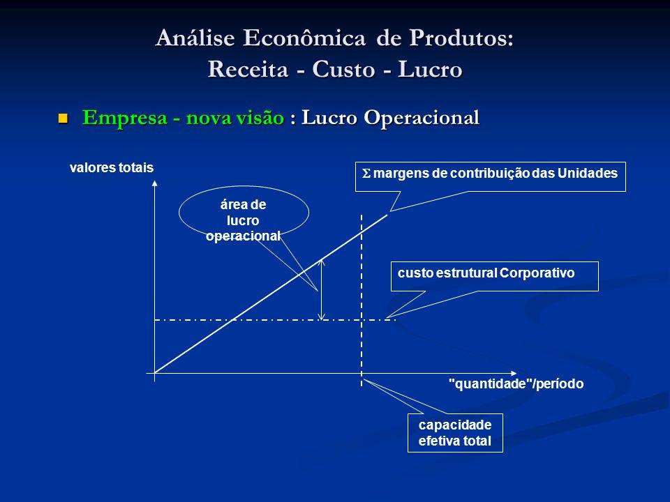 Análise Econômica de Produtos: Receita - Custo - Lucro