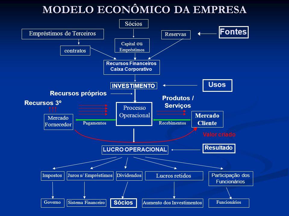 MODELO ECONÔMICO DA EMPRESA