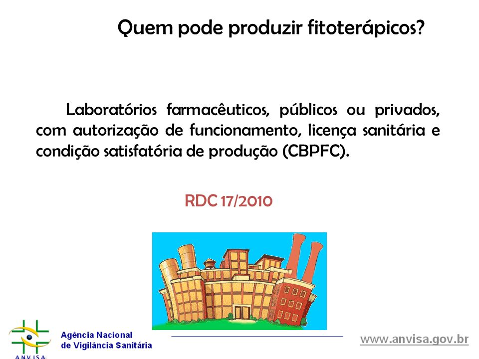 Quem pode produzir fitoterápicos