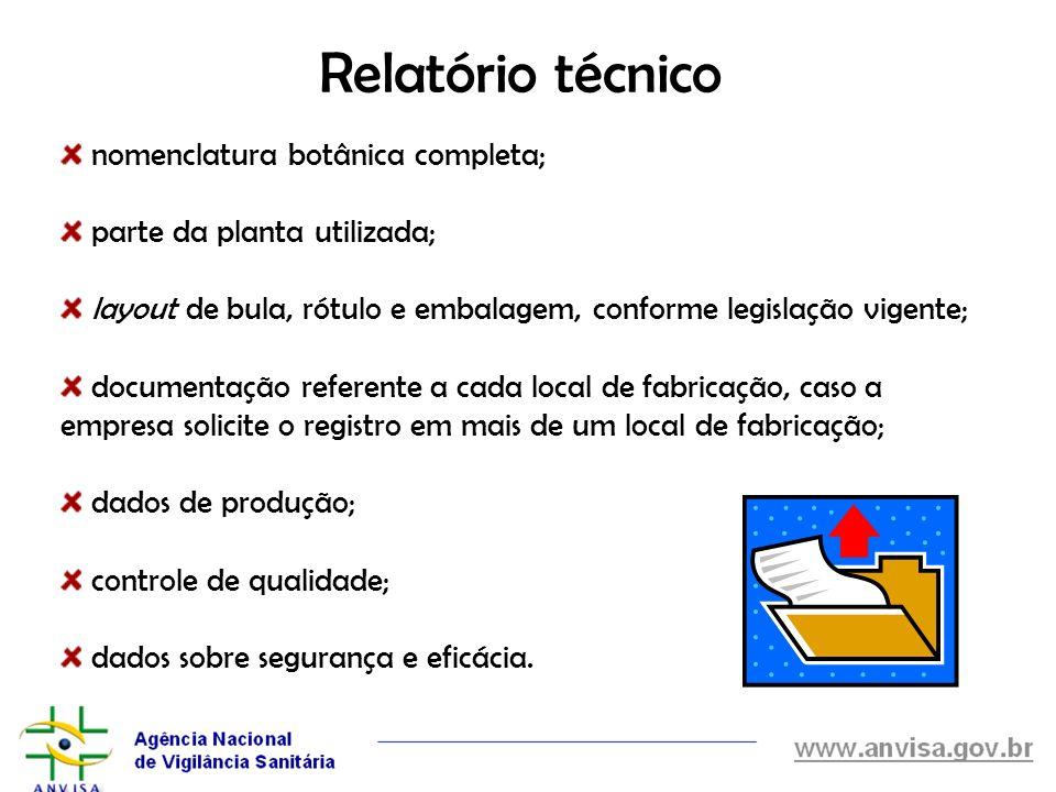 Relatório técnico nomenclatura botânica completa;