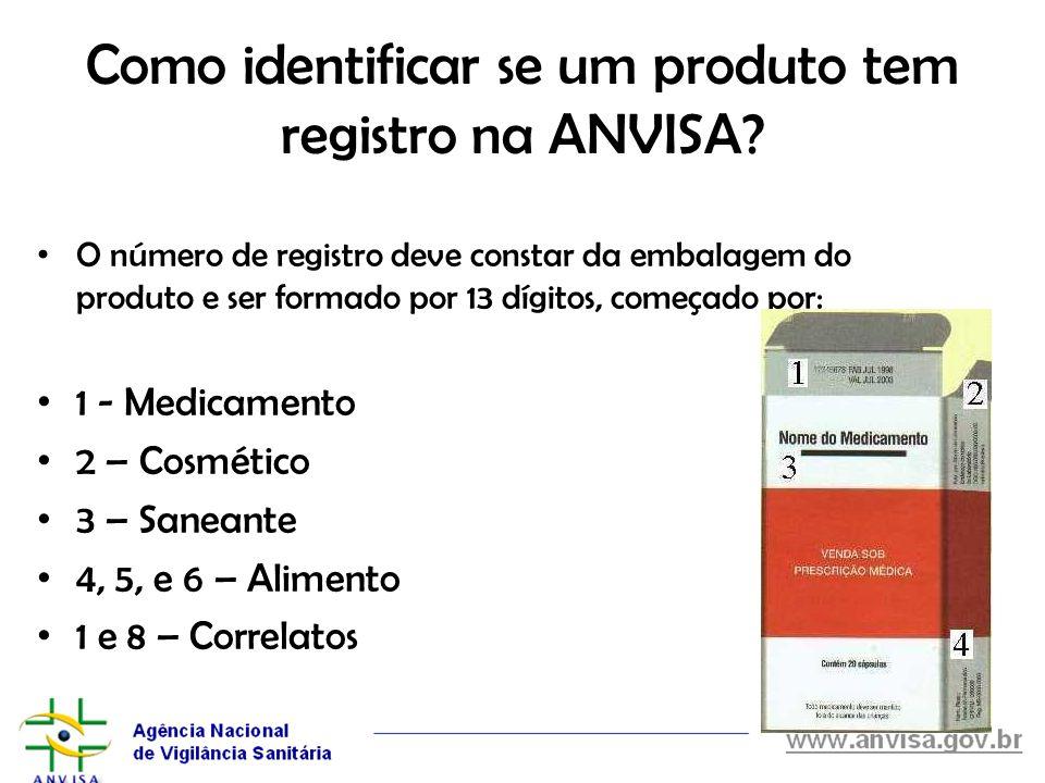 Como identificar se um produto tem registro na ANVISA