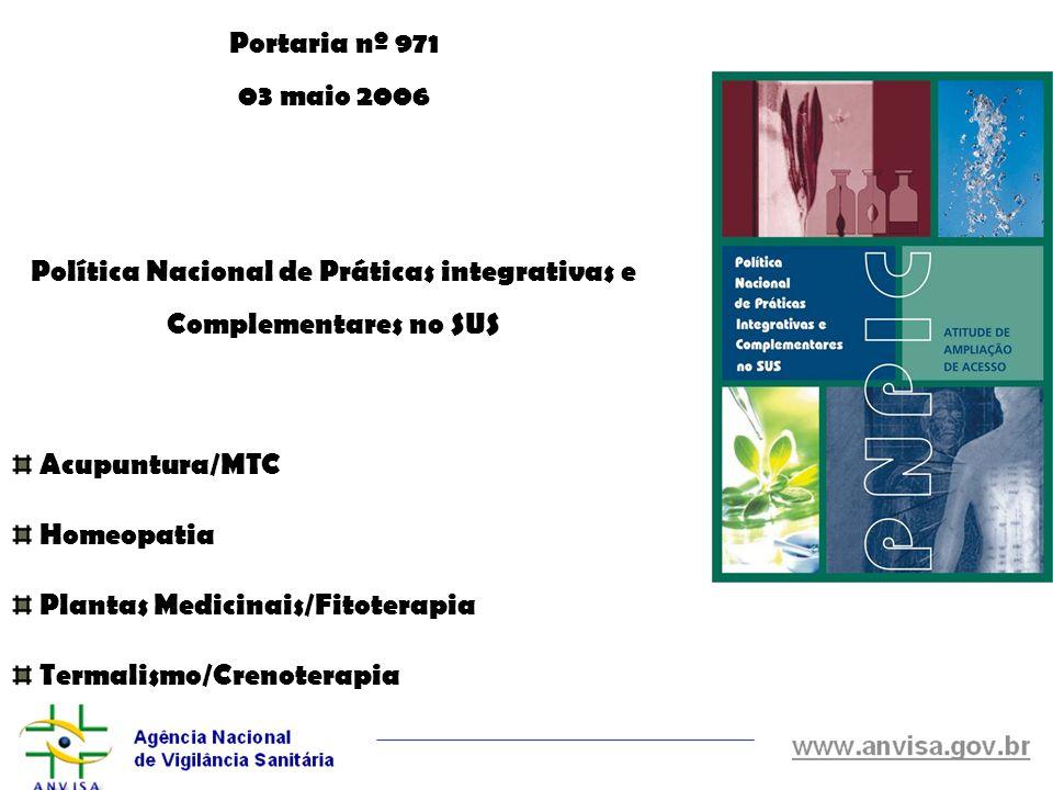 Política Nacional de Práticas integrativas e Complementares no SUS