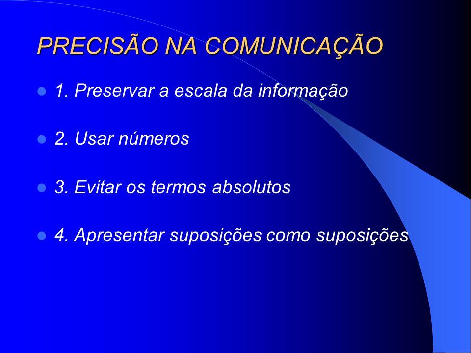 PRECISÃO NA COMUNICAÇÃO