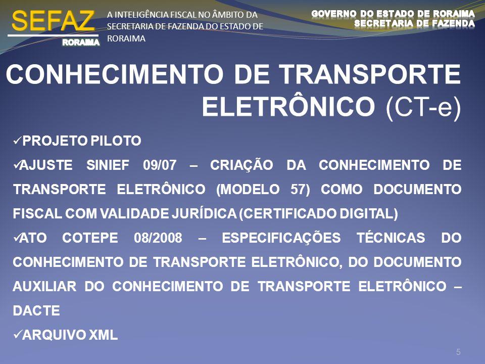 CONHECIMENTO DE TRANSPORTE ELETRÔNICO (CT-e)