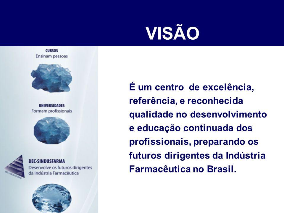 VISÃO É um centro de excelência, referência, e reconhecida
