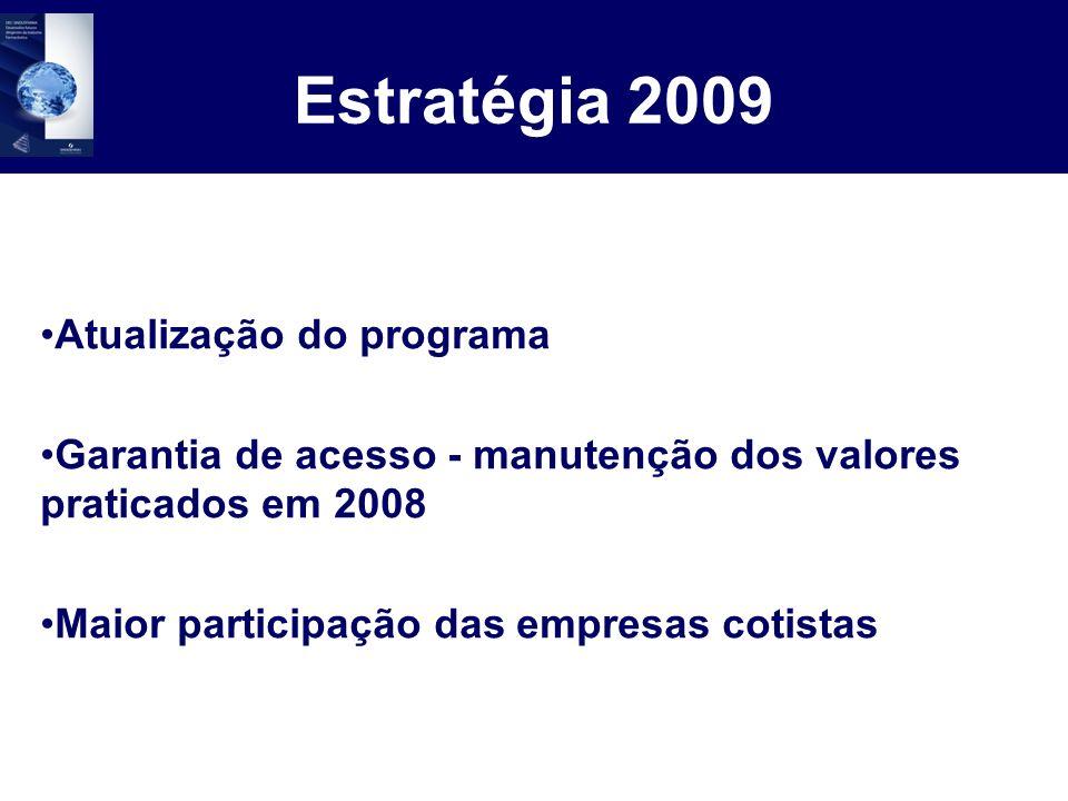 Estratégia 2009 Atualização do programa