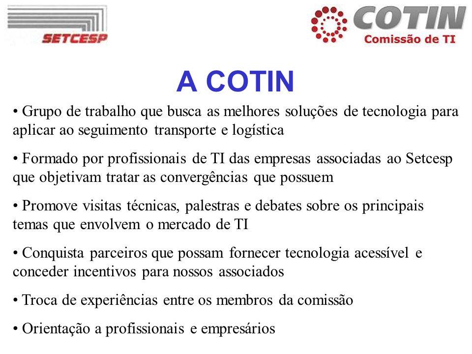 A COTIN Grupo de trabalho que busca as melhores soluções de tecnologia para aplicar ao seguimento transporte e logística.