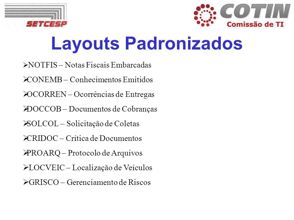 Layouts Padronizados CONEMB – Conhecimentos Emitidos