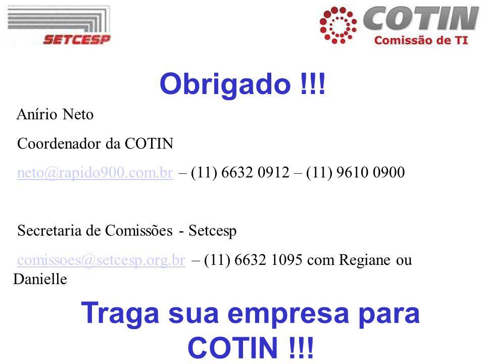 Traga sua empresa para COTIN !!!
