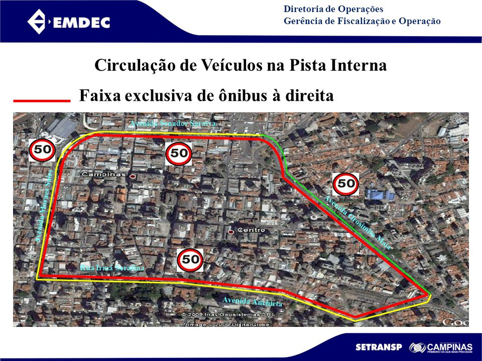 Circulação de Veículos na Pista Interna Avenida Senador Saraiva