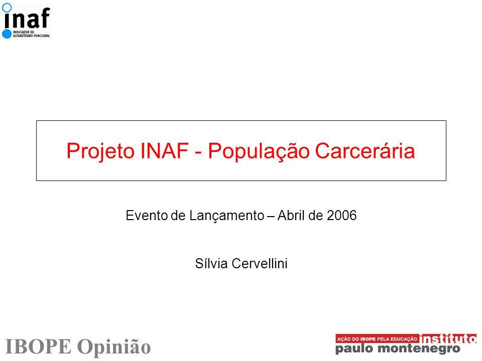 Projeto INAF - População Carcerária