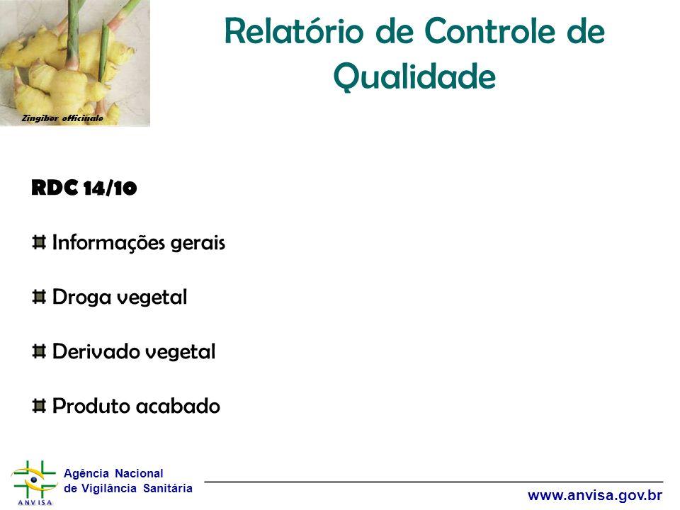 Relatório de Controle de Qualidade