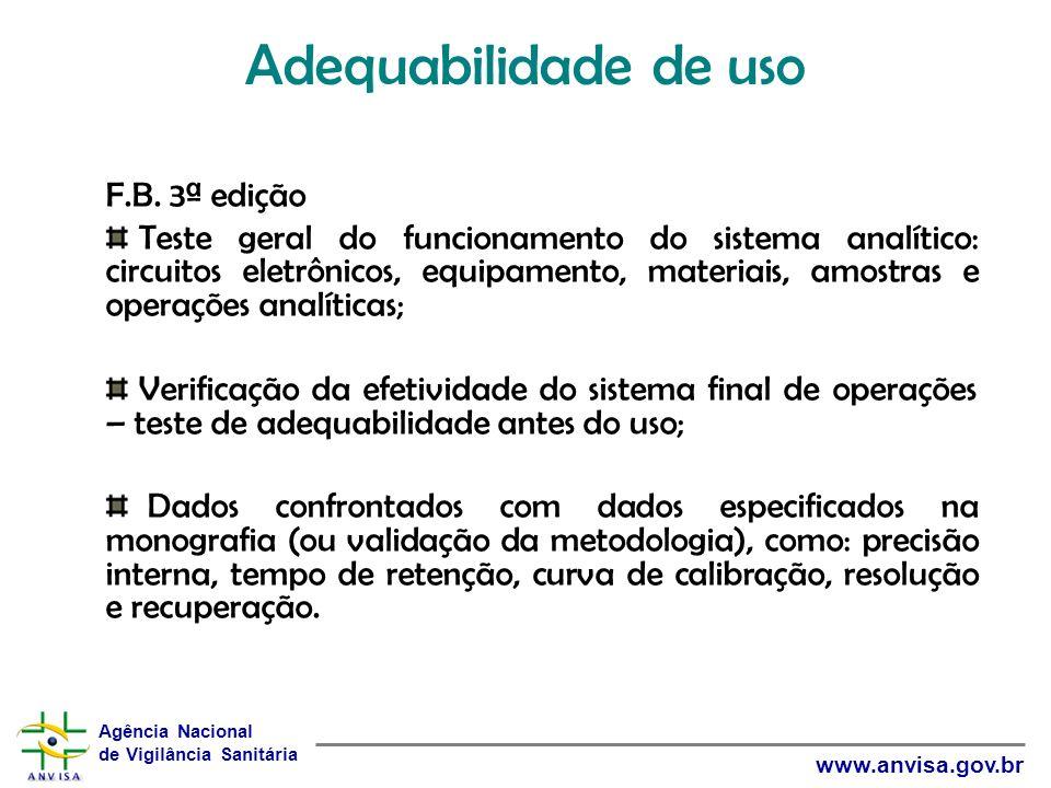 Adequabilidade de uso F.B. 3ª edição