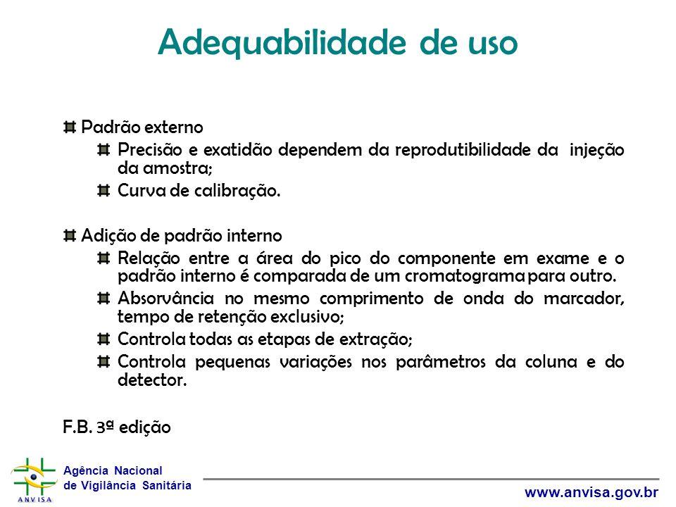 Adequabilidade de uso Padrão externo