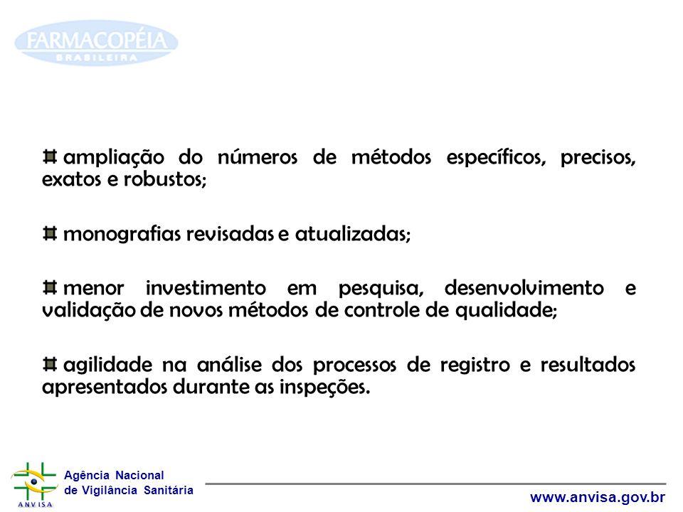 ampliação do números de métodos específicos, precisos, exatos e robustos;