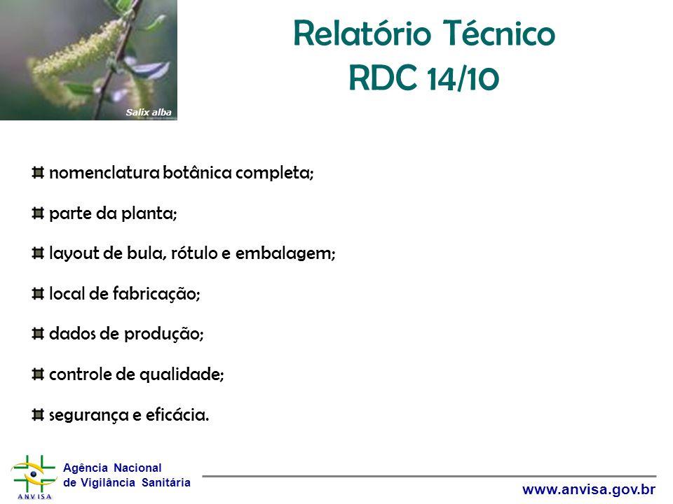 Relatório Técnico RDC 14/10