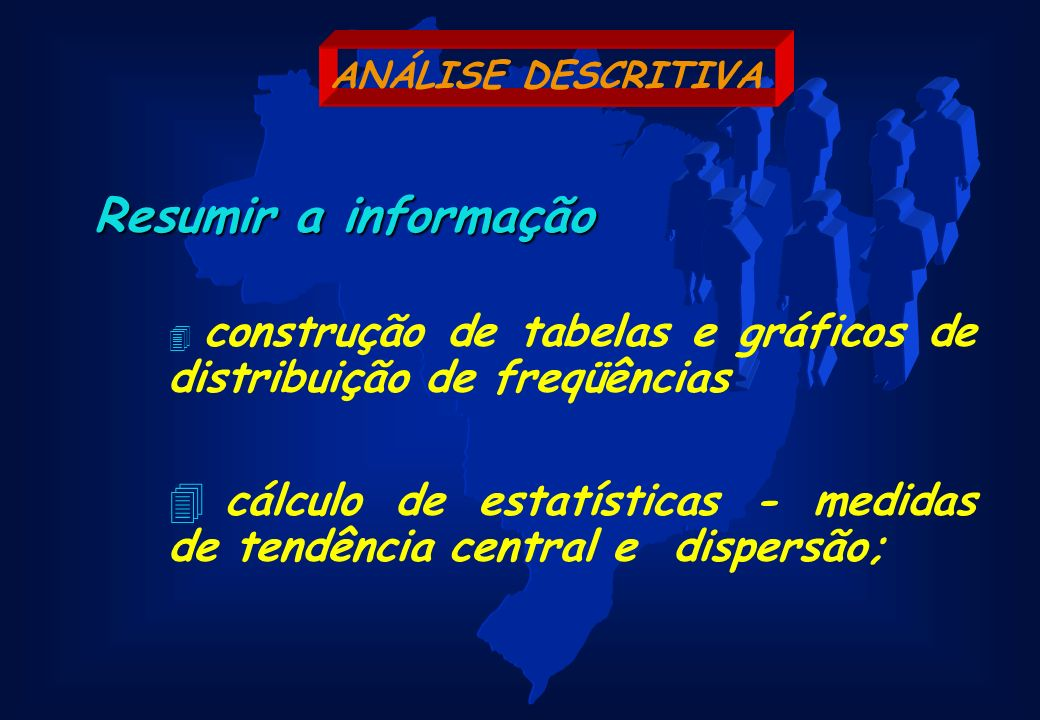 cálculo de estatísticas - medidas de tendência central e dispersão;