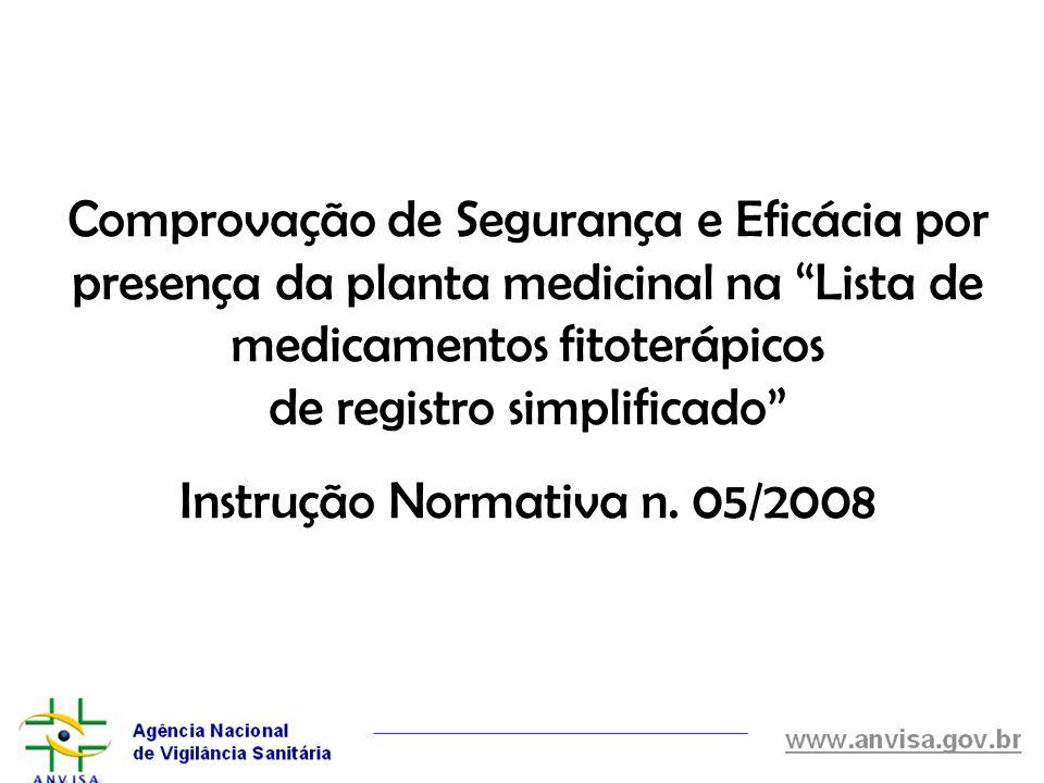 Instrução Normativa n. 05/2008