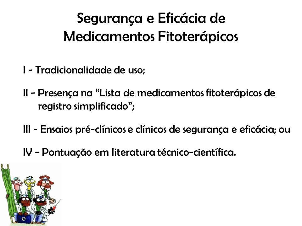 Segurança e Eficácia de Medicamentos Fitoterápicos