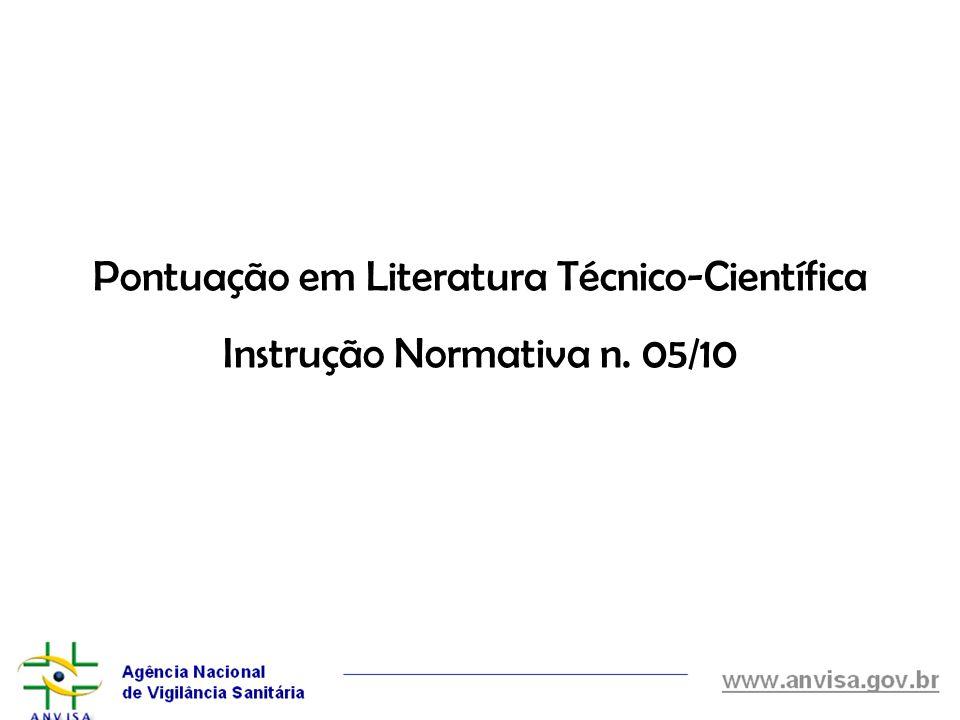 Pontuação em Literatura Técnico-Científica
