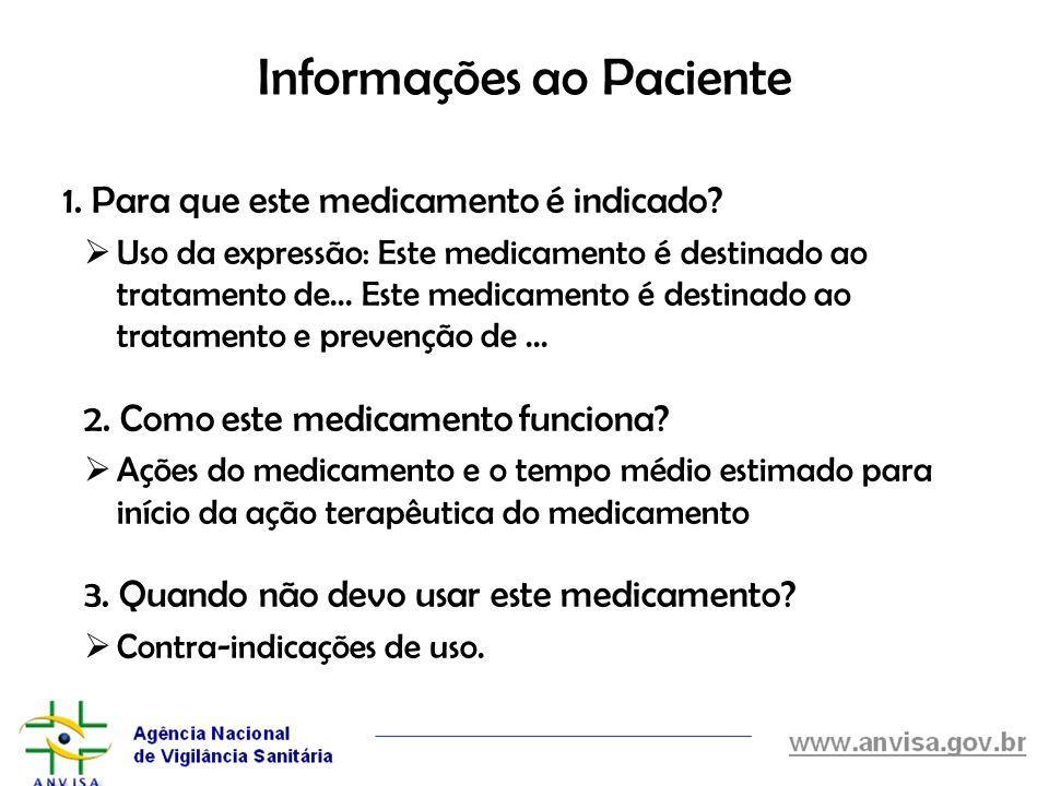 Informações ao Paciente