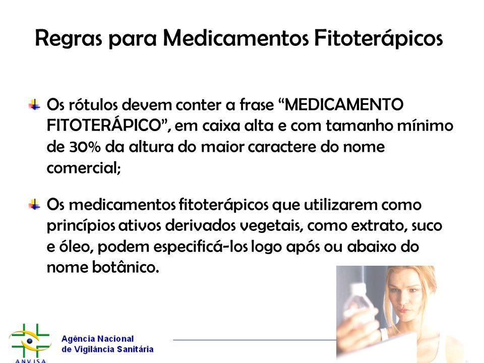 Regras para Medicamentos Fitoterápicos