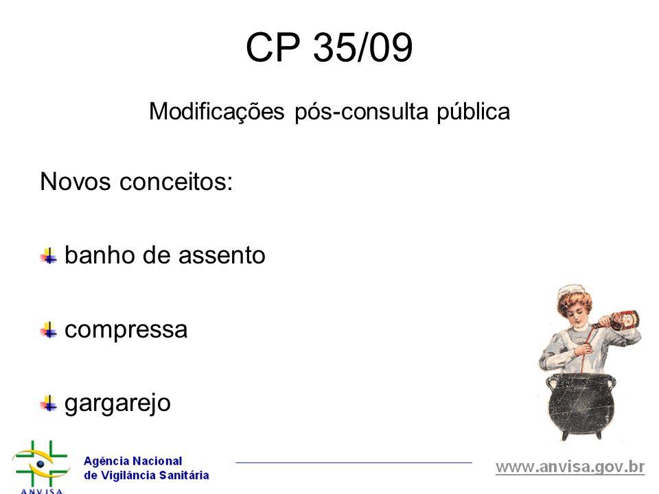 Modificações pós-consulta pública