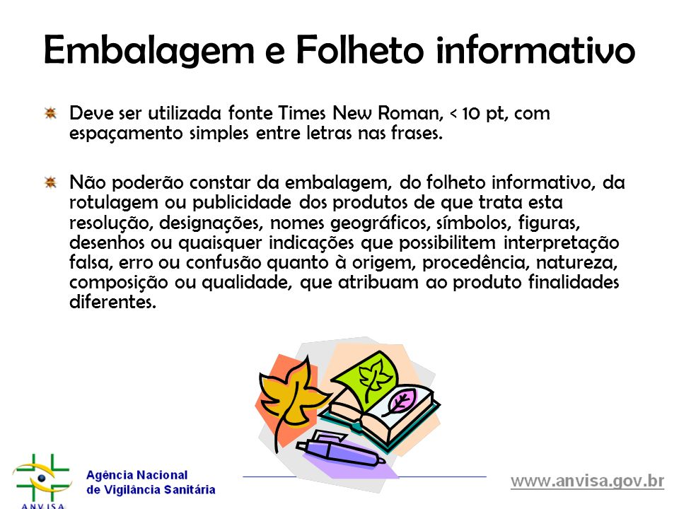 Embalagem e Folheto informativo