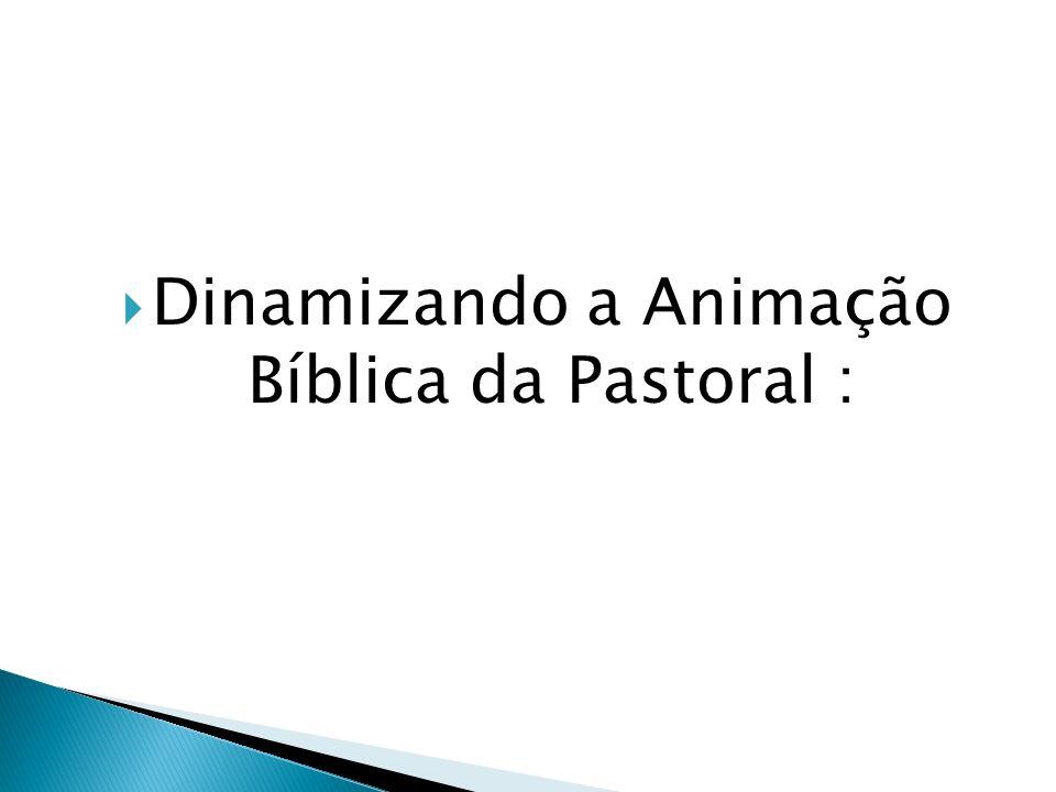 Dinamizando a Animação Bíblica da Pastoral :