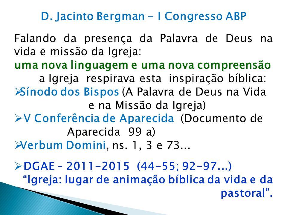D. Jacinto Bergman - I Congresso ABP